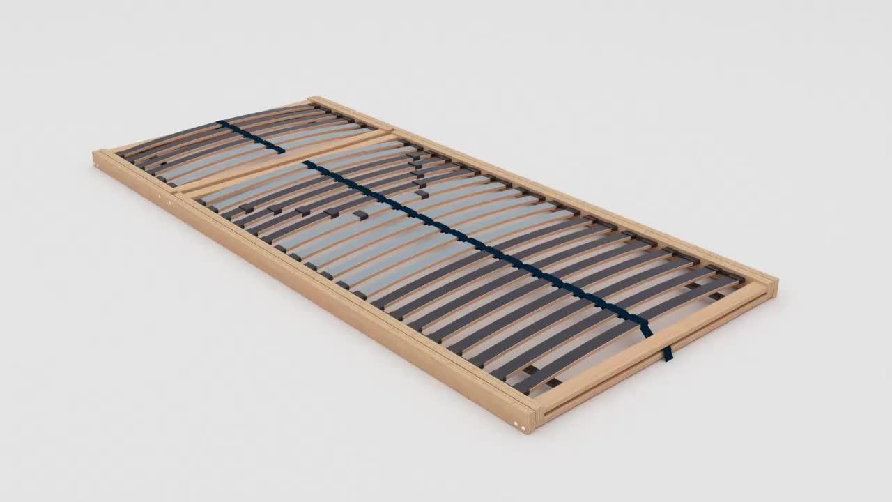 LATTENROST90/200 cmBirke,Schichtholz - Birkefarben/Weiß, Basics, Holz (90/200cm) - NOVEL